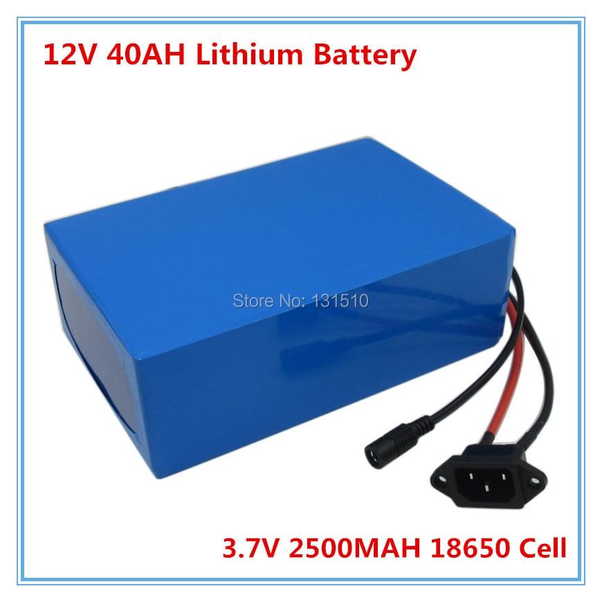 Batterie Rechargeable au lithium 350 W 12 V batterie 12 V 40AH avec chargeur 12.6 V 3A pour lumière LED/caméra CCTV 30A BMS livraison gratuite