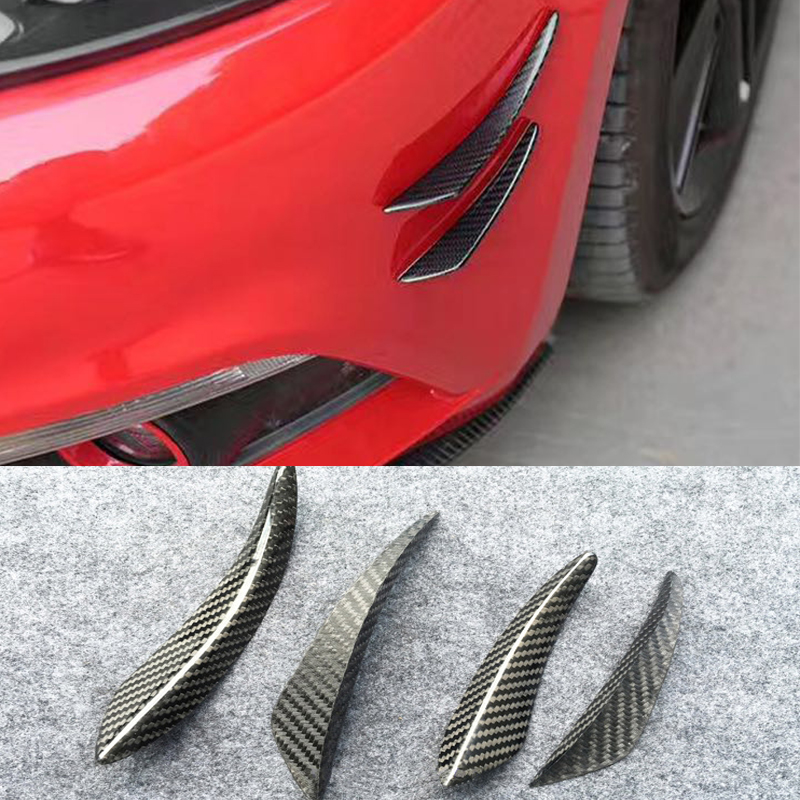For BMW F80 F82 F10 F32 E90 E92 M3 M4 X5 X6 Carbon Fiber Side Fender Air Vents Kit Trim Fender molding Cover image