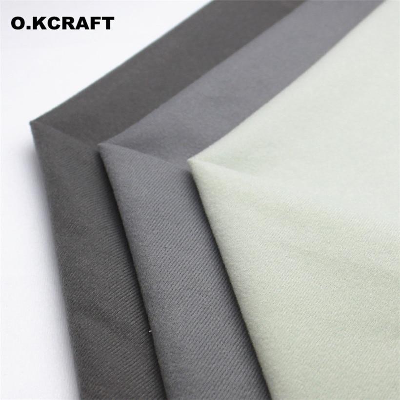 2dda28e714 Half Meter Grey Solid Color Fleece Fabric Plush Fleece Cloth for Doll  Pillow Sewing Velvet Fleece