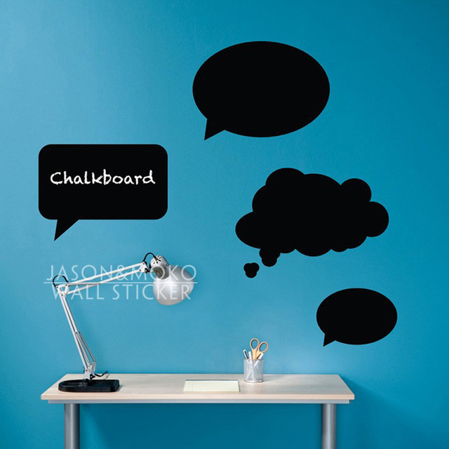 4pcs Thoughts Sch Bubble Wall Sticker Chalkboard Vinyl Art Decals Mural Wallpaper Study Clroom Home Decoration