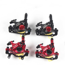 Taiwan ZOOM HB-100 Mtb Bike Disc Brake Calipers Line Pulling Double Piston Hydraulic Parts 2 Colors