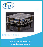 Newest good quality Acrylic Clear Case/Box for Banana Pi M1+ Board