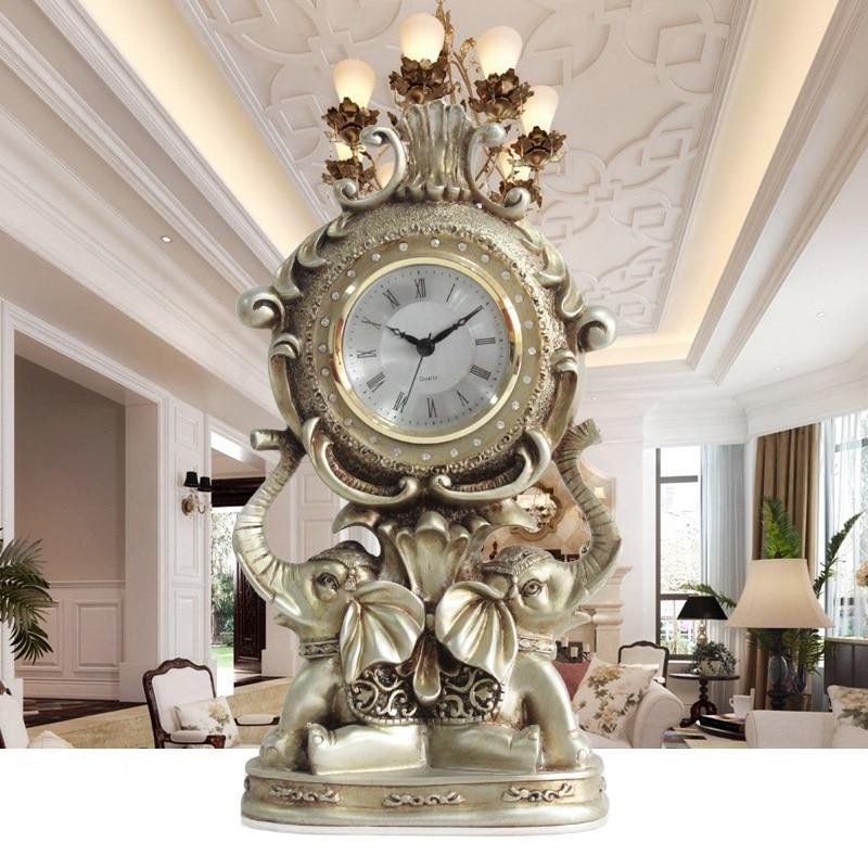 European retro elephant clock creative living room - Watch the elephant in the living room ...