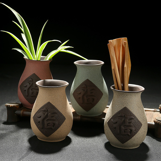 Stingy Hand Sand Vases Home Decoration Pottery Ceremony Pen Inserted