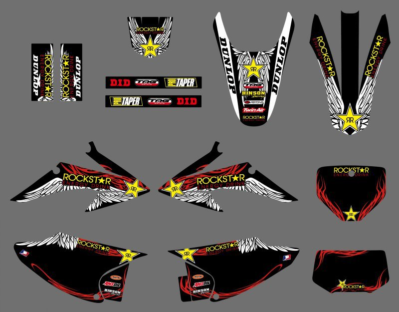 Star New Style TEAM GRAPHICS BACKGROUNDS FOR Honda CRF150 CRF230 CRF150F CRF230F 2008 2009 2010 2011