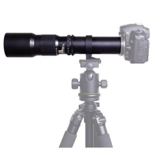 JinTu 500mm f/8,0 teleobjetivo Kit para Sony e-mount NEX3 NEX5 NEX6 NEX7 A5000 A6000 a6500 A7 A7S A7R A7M A9 cámara SLR negro
