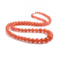 Handmade Authentic Pumpkin Red Crystal Beads Necklace Pendants 5 12mm