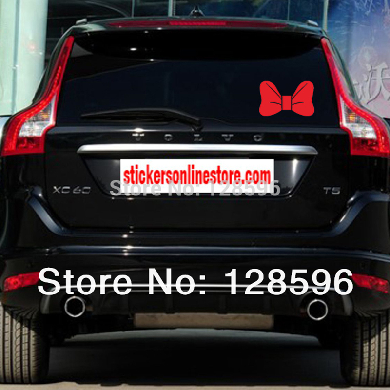 HotMeiNi Cute Girl Mickey Mouse Bow Tie Hello Kitty Bow Sticker, Vinyl Decal, for Car Bumper Window Cool Oem Car Sticker