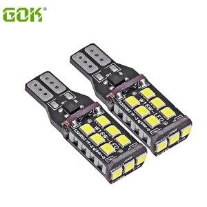 30pcs T10 LED CANBUS 12V-24V T15 T10 15led 2835 smd T10 15SMD LED Canbus No Error Free Led Indicator Lamp Car styling