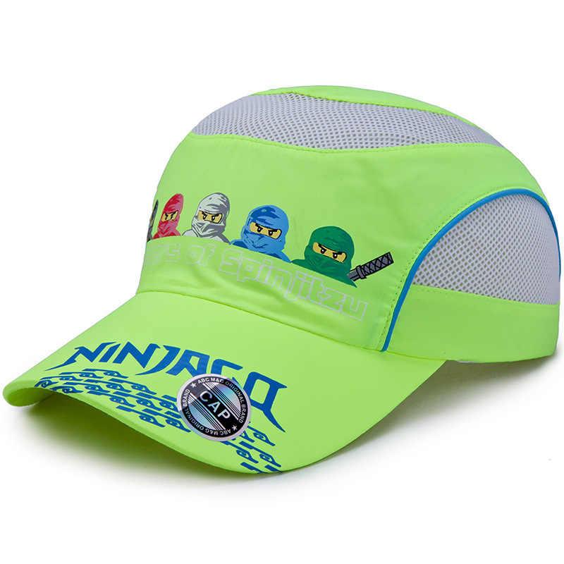 1603cbebfe7ef7 ... Five Ninjas Cartoon Printing Fast Dry Baseball Caps for Children  Outdoor Boys Girls Sports Net Cap ...