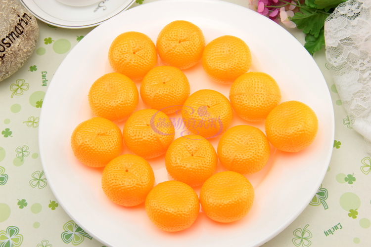 Orange plastic orange fruitlessness model photography props toy game props kitchen cabinet decoration in Artificial Dried Flowers from Home Garden
