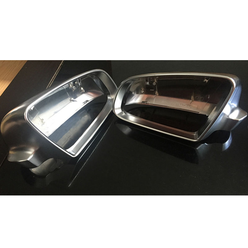 Matt Chrome Mirror Cover Rearview Side Mirror Cap S Line For Audi Audi A4 B6 B7 A6 (2003-2007) S4 ttlife stereo sports earpiece hands free earbuds wireless earphones bluetooth with microphone for xiaomi android phone