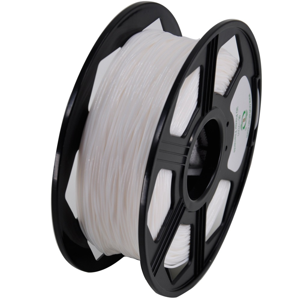 YOYI soft and elastic TPU 3D ptinter Filament White color plastic material 1.75mm