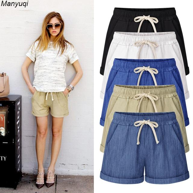 Summer denim shorts for women harem big size shorts cotton women hot shorts  7 colors M-6XL af1873300d81