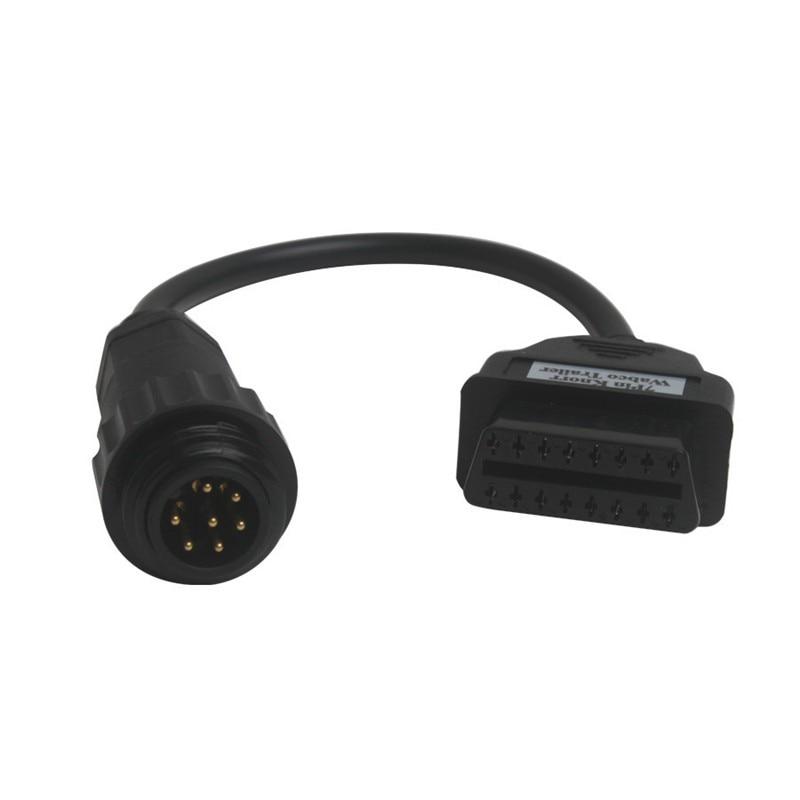 Prix pour Knorr 7Pin Wabco OBD2 OBD II Câble Pour AUTO CDP COM Camions Outil De Diagnostic Connecteur Wabco Remorque Câble à 16pin