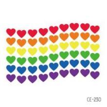 Fake-Tattoo-Sticker Rainbow Temporary-Tatoo Heart Waterproof Tatto Tatouage Girl Kids