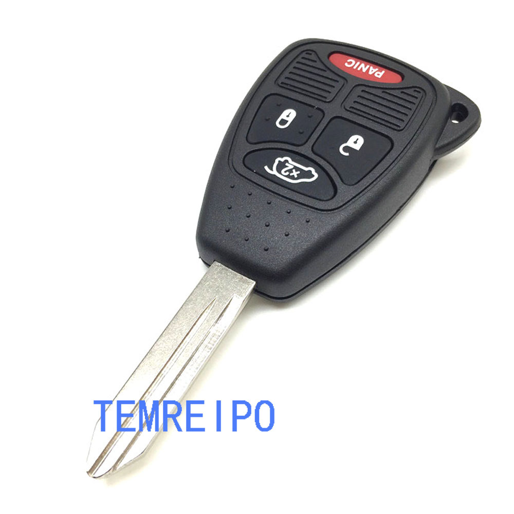 Dodge Charger Magnum Durango Jeep Commander Grand Cherokee: Uncut Transmitter Keyless Key Fob Case Shell For Dodge