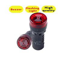 цена на AD16-22SM LED Indicator light signal lamp Flash light buzzer 12V 24V 110V 220V  open hole 22mm P23