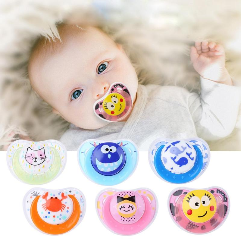 Cute Baby Pacifier Safe Newborn Infant Toddlers Baby Pacifier Silicone Nipple Soother Anti-dust Lid Infant Teether