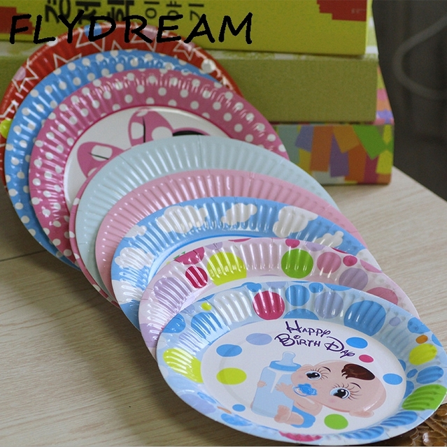 FLYDREAM 5pcs/set Cute Disposable Plate Birthday Party Wedding Christmas Decoration Supplies Fruit Snacks Disposable & FLYDREAM 5pcs/set Cute Disposable Plate Birthday Party Wedding ...