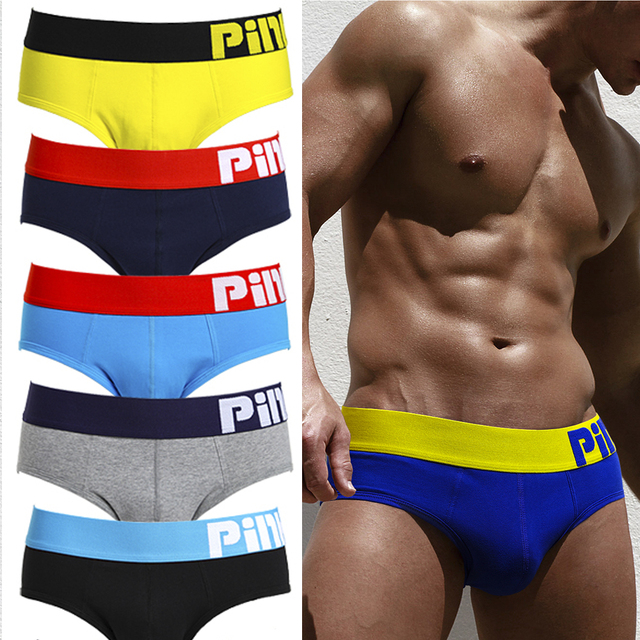 5Pcs/lot pack Pink Hero Mens Briefs Sexy Underwear Pure Color Soft  Cotton Cuecas Panties Male Casual Trunks High Quality Hot