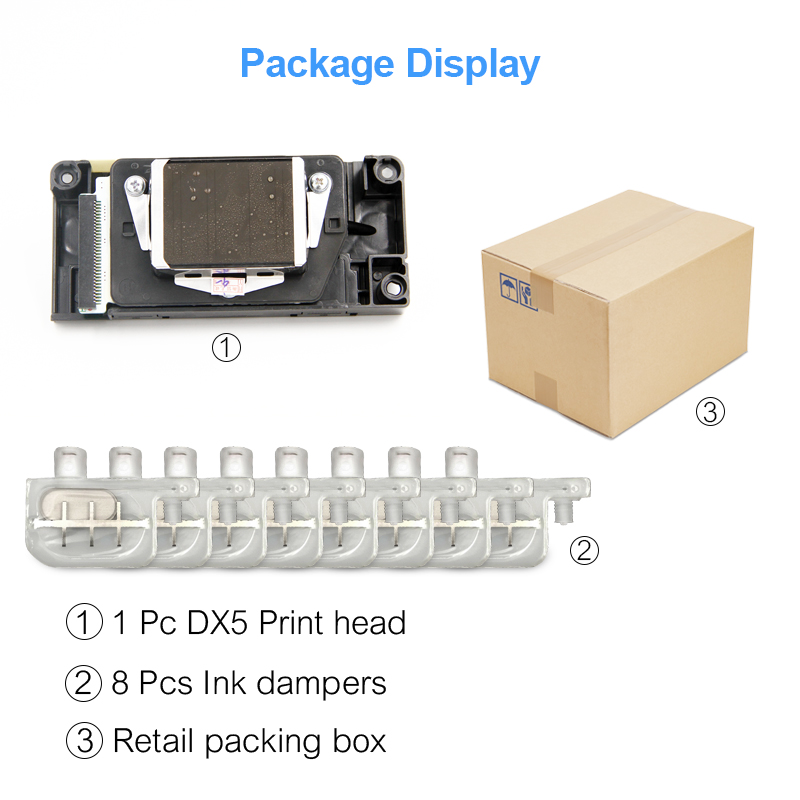 Brand New F160010 Unlocked Printhead DX5 Print Head For Epson 7800 7880  9800 9880 4400 4800 4880 9400 R1800 R1900 R2000 R2400