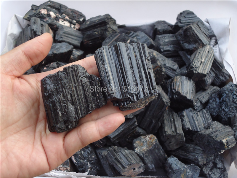 1KGNATURAL BLACK TOURMALINE CRYSTAL STONE ORIGINAL CHAKRA STONE WHOLESALE