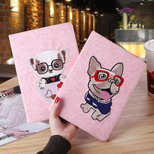 3D embroidery Tablet Case For ipad 2017 2018 Magnetic Smart Flip Teddy Cute Cartoon Apple Air 1 2 Cover case