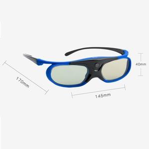 Image 3 - 6 шт., активный затвор, 96 144, Гц, перезаряжаемые 3D очки для Optama/Acer/BenQ/ViewSonic/Sharp/Dell DLP Link, проекторы DLP 3D Ready