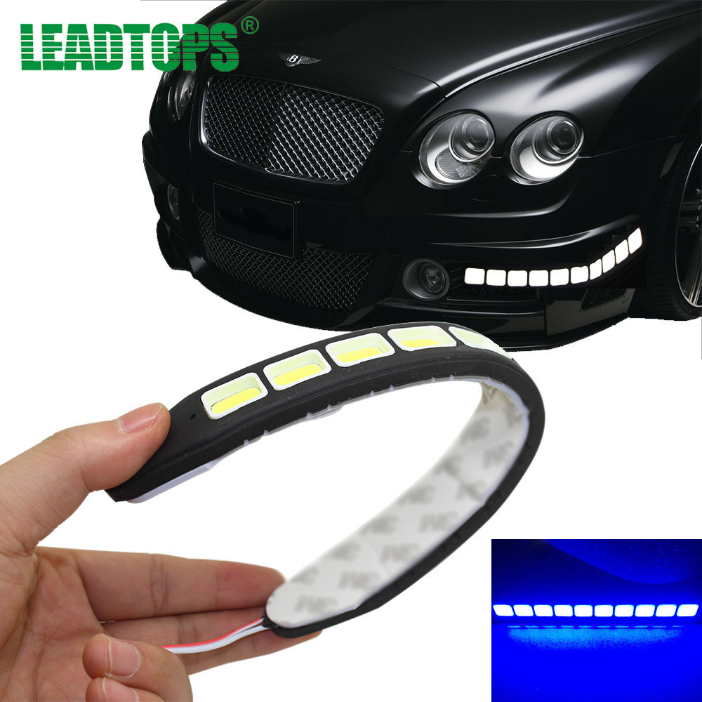 2pcs Square 21cm Bendable Led Daytime Running light 100% Waterproof COB Day time Lights Flexible LED Car DRL Driving Lamp BJ