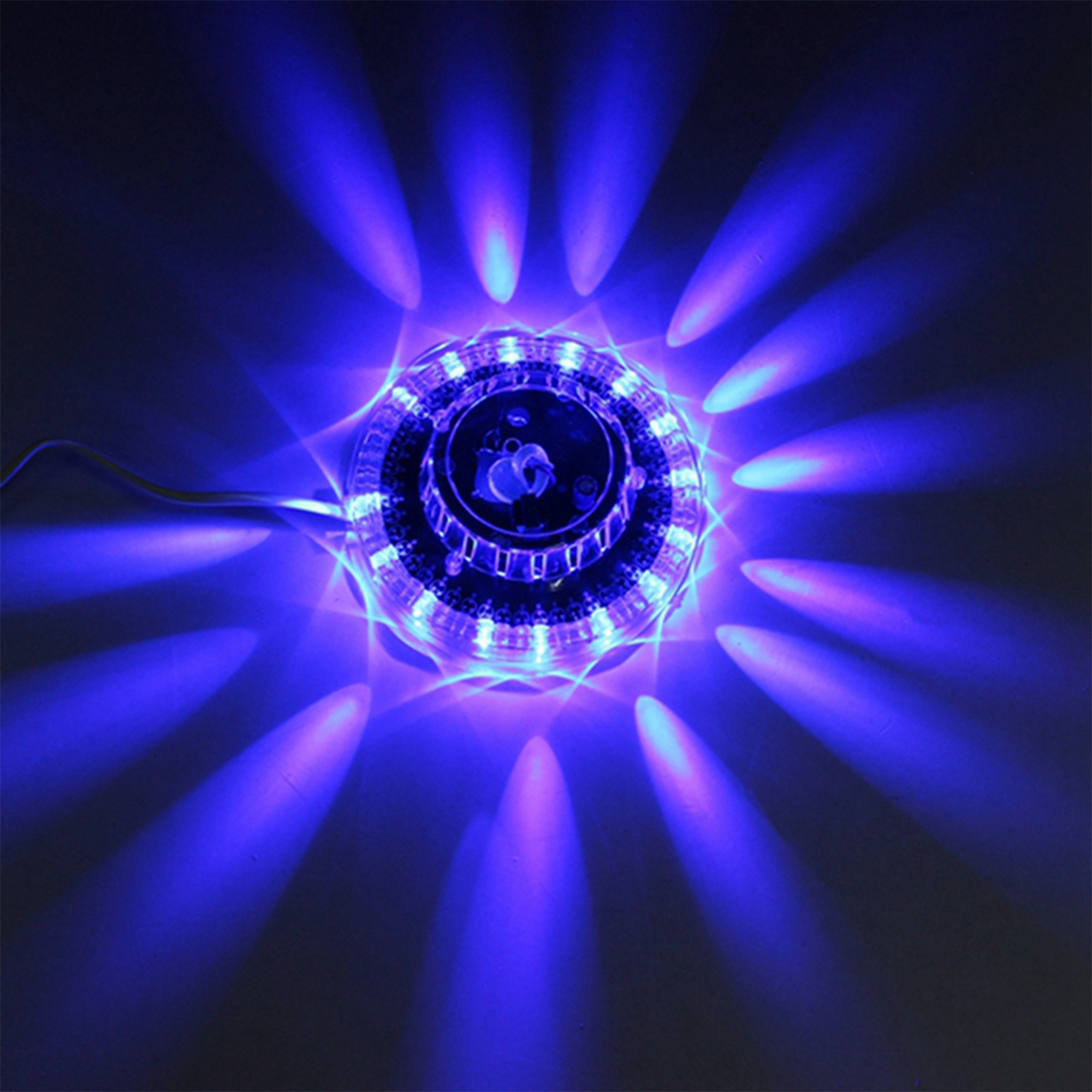 Jiguoor UFO Portable Laser Stage Lights 8W Rgb 48 Leds Sound Activated Sunflower Led Lighting Wall Lamp For KTV DJ Party Wedding