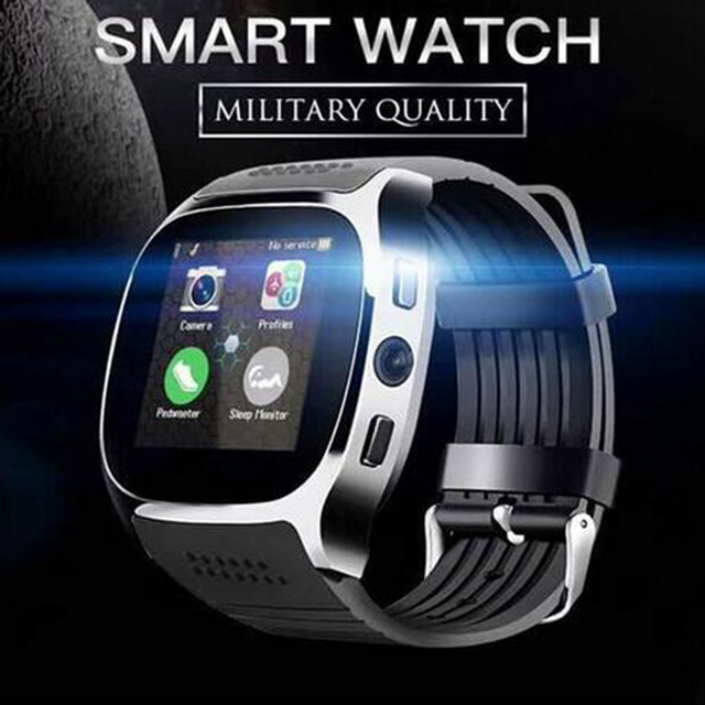 US $17 99 |K6 Bluetooth Smart Watch Camera Facebook Whatsapp Support 2G SIM  TF Card Call Smartwatch for Samsung Galaxy S9 Plus PK Q18 DZ09-in Smart