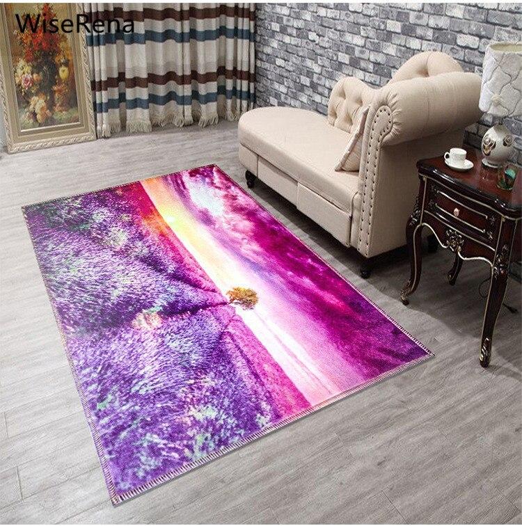 15 Styles 3D érable Floral plage scénique tapis grande taille salon salon tapis impression chambre cuisine toilettes décorer tapis