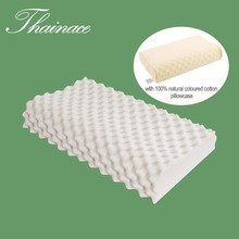 Thainace Natural Latex Orthopedic Pillow Men Message Latex Foam Bed Sleeping Pillow Care for Neck Head