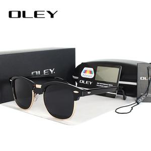 Мужские и женские классические очки OLEY, поляризованные солнцезащитные очки унисекс в стиле ретро с линзами и покрытием, Y3016