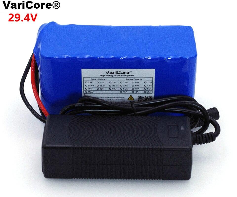 VariCore 24 v 6 Ah 7S3P 18650 Batterie 29.4 v 6000 mah Vélo Électrique Cyclomoteur/Électrique/Li ion batterie Pack + 29.4 v 2A Chargeur