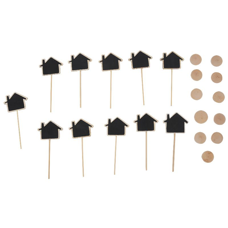 10 Pieces Mini Hanging Blackboard In Wood Message Board Wooden Table Decoration Board Notes Board Wedding And Party Decor-Hous