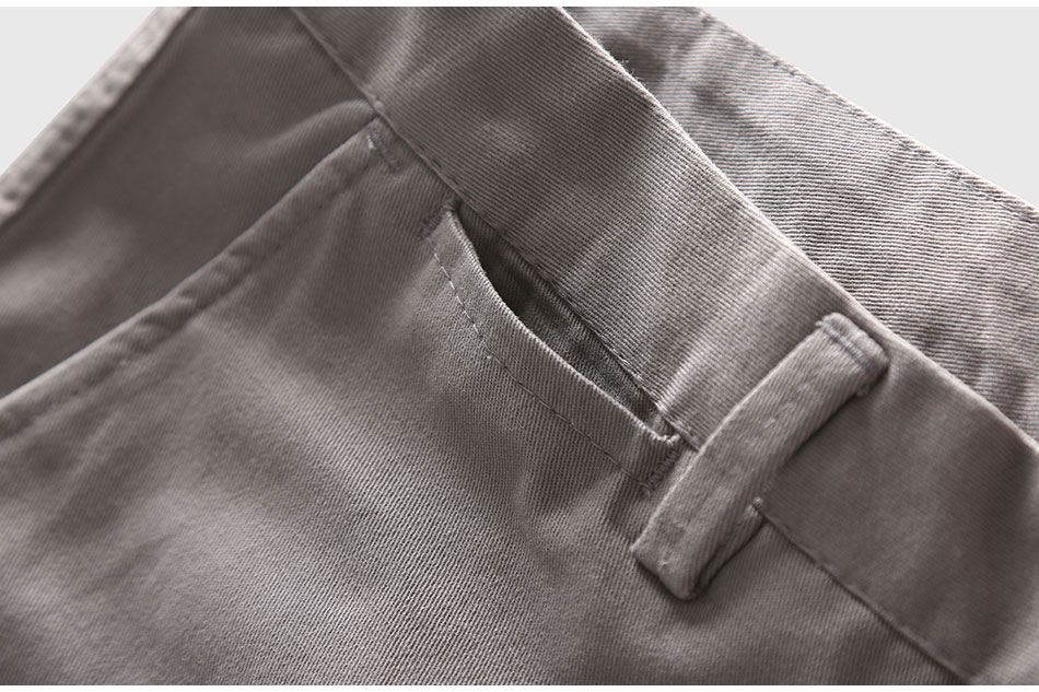 Zecmos Slim Straight Men Casual Pants Man Autumn Winter New Fashion Plus Size Pocket Trousers 11