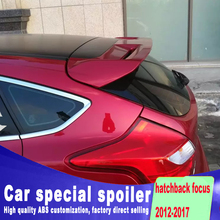 new design Stable type big spoiler for ford focus hatchback 2012 2013 2014 2015 2016 2017 by primer or DIY paint color