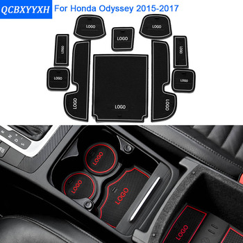 10Pcs/Set Car Styling Slot Pad Interior Door Groove Mat Latex Anti-Slip Cushion For Honda Odyssey 2015 Car Internal Dedicated honda odyssey