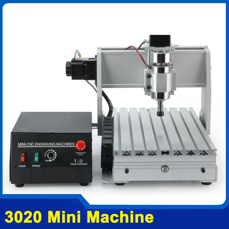 300W/800W/1500W CNC 3020 T-D300 DC Power Spindle Motor CNC Engraving Machine Drilling Router With USB CNC Laptop 3 Axis Engraver