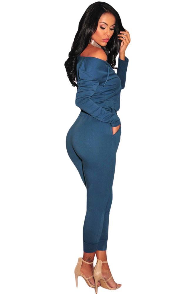 Blue-Grommet-Lace-Up-Long-Sleeve-Jumpsuit-LC64223-5-3