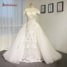 Amanda Chen High-end two in one lace up back wedding dress