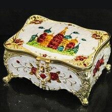 Замок флип европейском стиле металл шкатулка ожерелье коробка для хранения (A113)