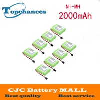 10pcs free shipping 3.6v 2000 mAh NI MH Phone Battery for Panasonic KX A36 P P501 for Uniden BT 905