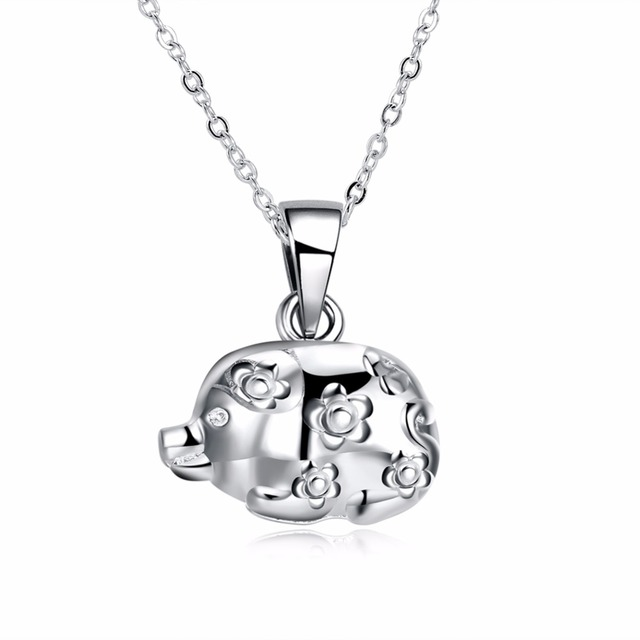 Creative chinese style jewelry 925 sterling silver fuxing pig creative chinese style jewelry 925 sterling silver fuxing pig pendant women s individual necklace retro mozeypictures Gallery