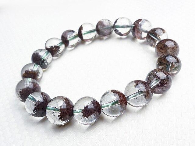2017 New Arrival Genuine Natural Red Phantom Quartz Bracelets For Women Crystal Transpa Round Bead Stretch
