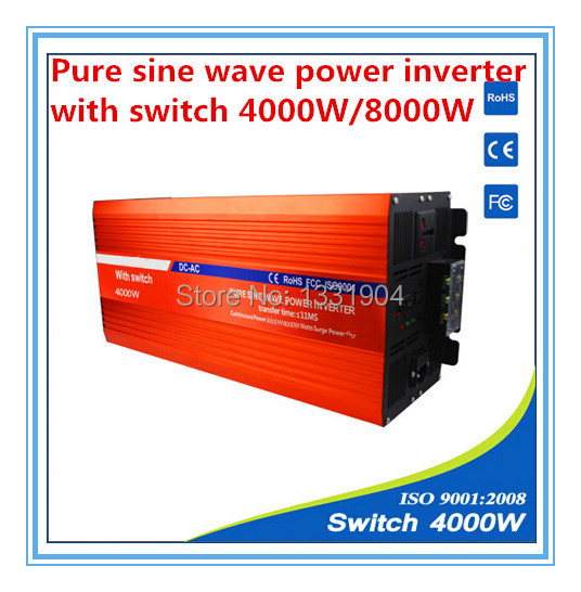 цена на 4000W pure sine wave inverter DC24V to AC220V inverter,solar power inverter with auto transfer switch,car inverter