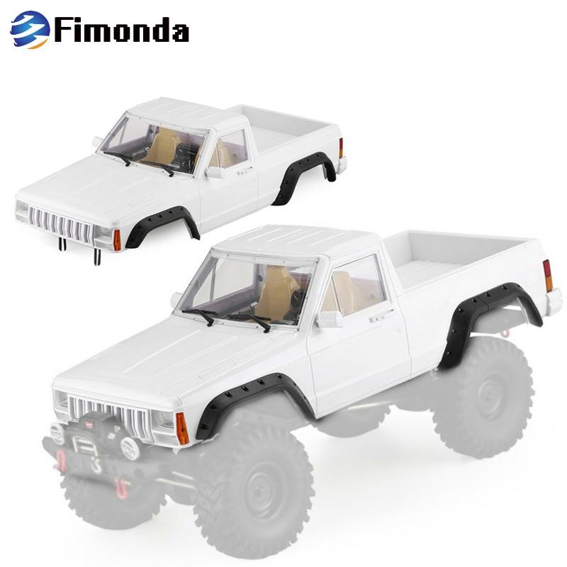 Fimonda 313mm ฐานล้อพลาสติก Cherokee รถกระบะ Body Shell สำหรับ 1/10 RC Crawler Axial SCX10 & SCX10 II 90046 90047-ใน ชิ้นส่วนและอุปกรณ์เสริม จาก ของเล่นและงานอดิเรก บน   1