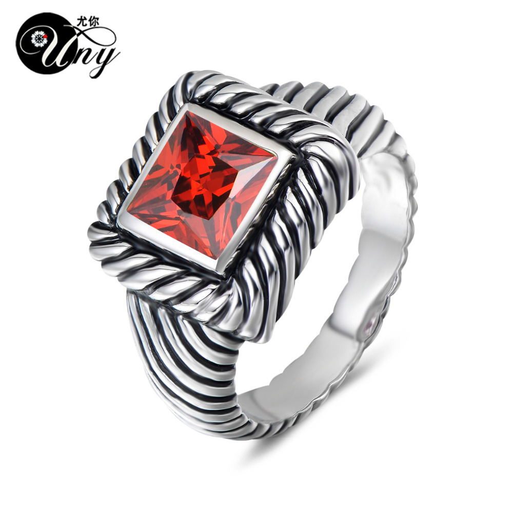 UNY Ring Femme Multi CZ Twisted Cable Wire Rings Designer Fashion Brand David Vintage Love Antique Rings Women Jewelry Ring Gift